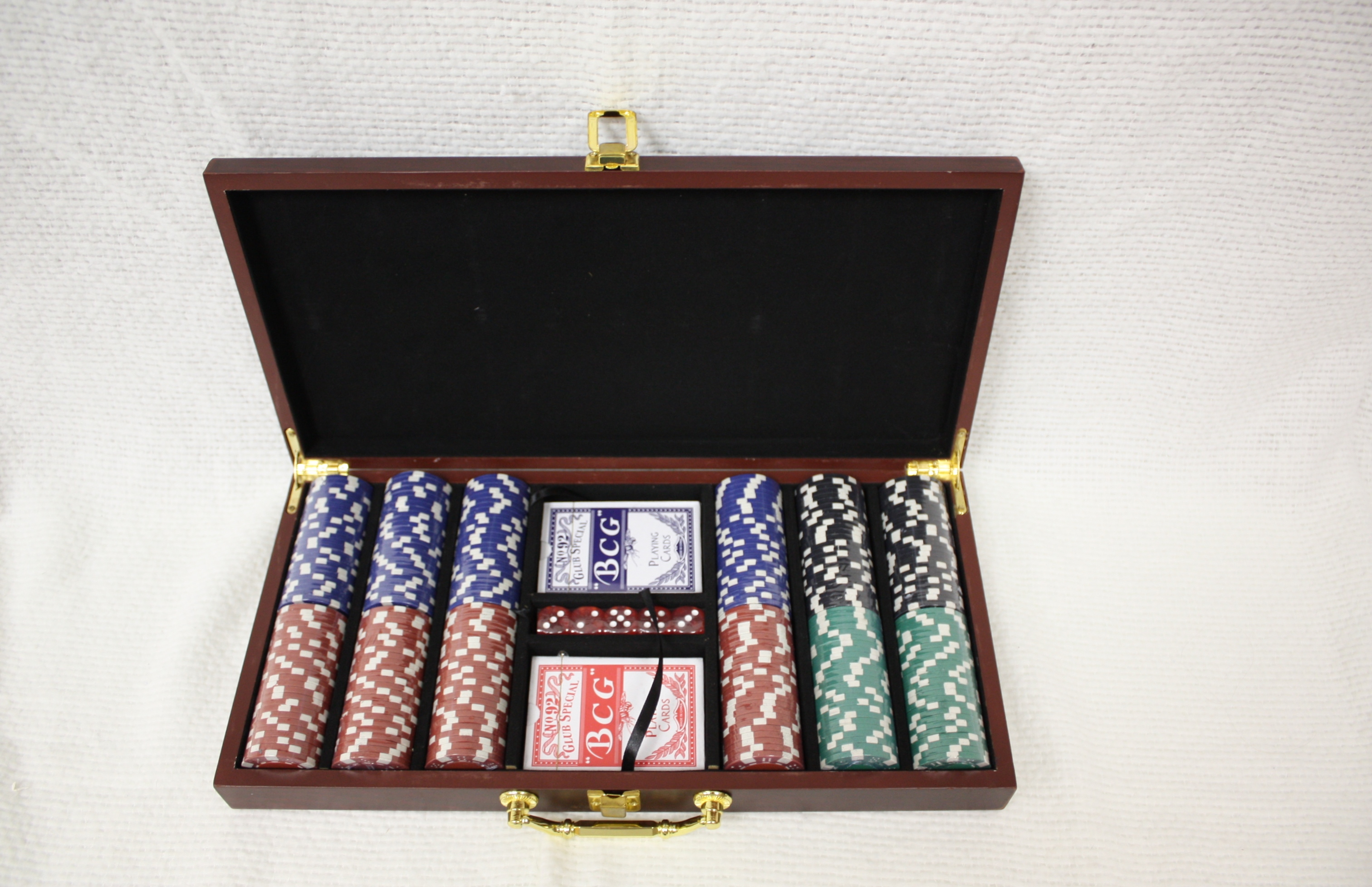 Custom Personalized Laser Engraved Gift Poker and Card Set with Rosewood Finish